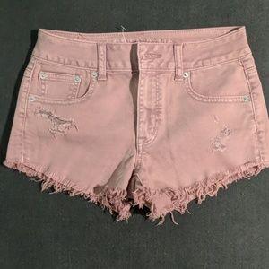 American Eagle Mauve Pink Denim Jean Shorts 0